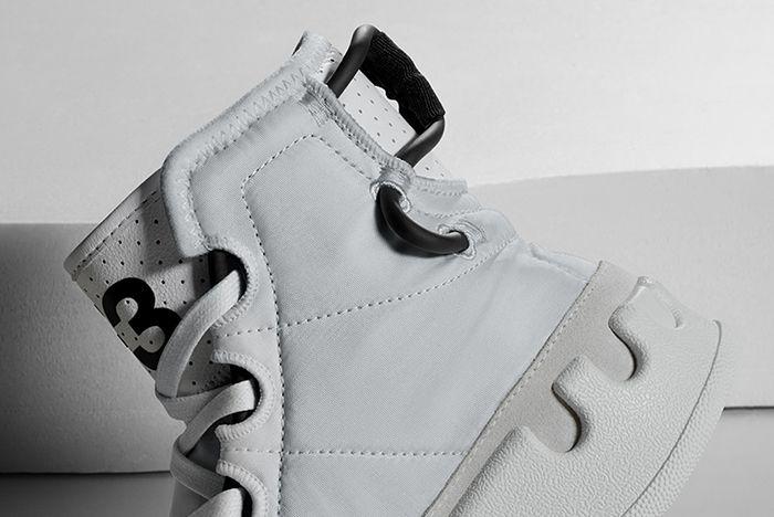 Adidas Y3 Kasaburu White Heel Shot