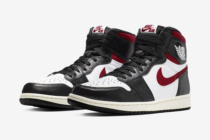 Air Jordan 1 Black White Sail Gym Red Official 555088 061 Release Date Pair