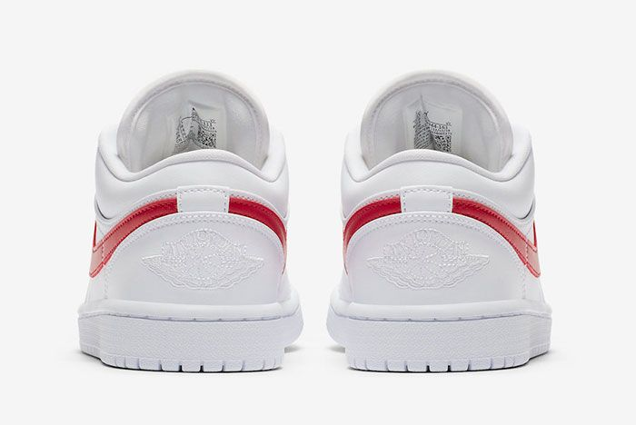 Air Jordan 1 Low White University Red Ao9944 161 Heel