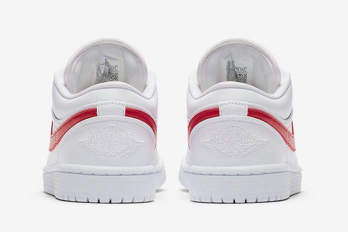 Air Jordan 1 Low White University Red Ao9944 161 Heel