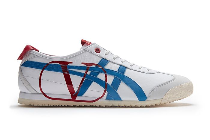 Valentino Onitsuka Tiger Mexico 66 White Blue Red Side