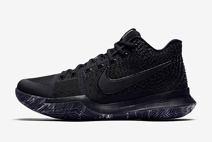 Nike Kyrie 3 Triple Black 2