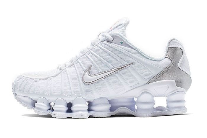 Nike Shox Tl Metallic White Left