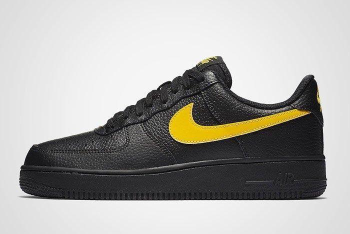 Nike Air Force 1 07 Lv8 Black Amarillo Thumb