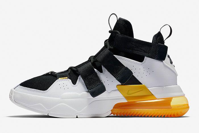 Nike Air Edge 270 Black White Gold Side