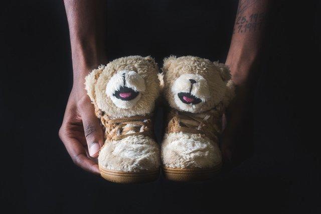 Adidas Infant Js Bear Tan 4