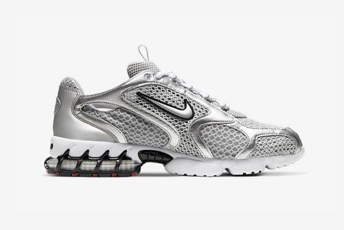Nike Air Zoom Spiridon Caged Metallic Silver Medial