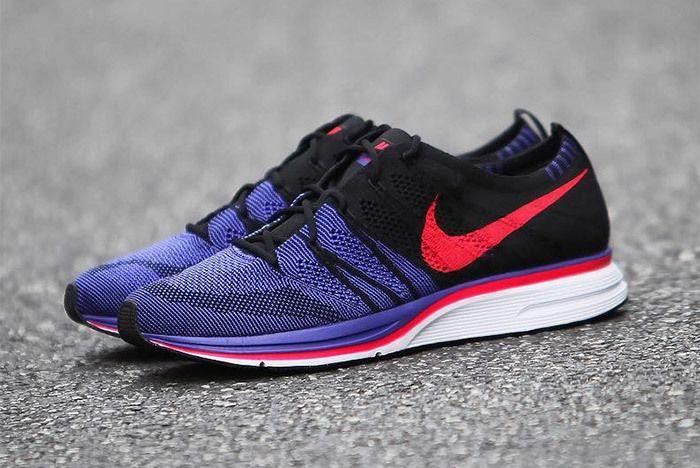 Nike Flyknit Trainer Red Purple Black 9