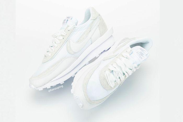 Sacai X Nike Ldwaffle White Top Full