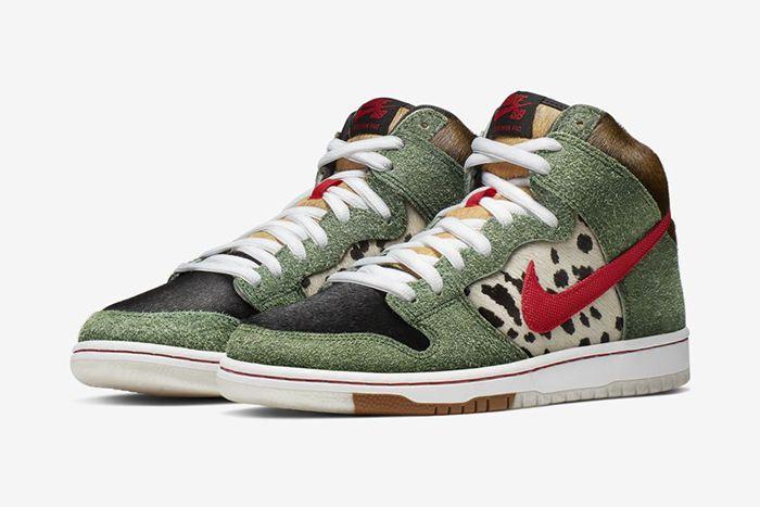 Nike Sb Dunk High Walk The Dog Bq6827 300 Release Date Pair