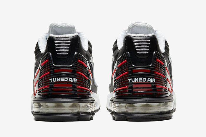 Nike Air Max Plus 3 Iii White Black Red Cd7005 004 Heel Shot