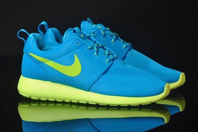 Nike Roshe Run Blue Glow Volt 1