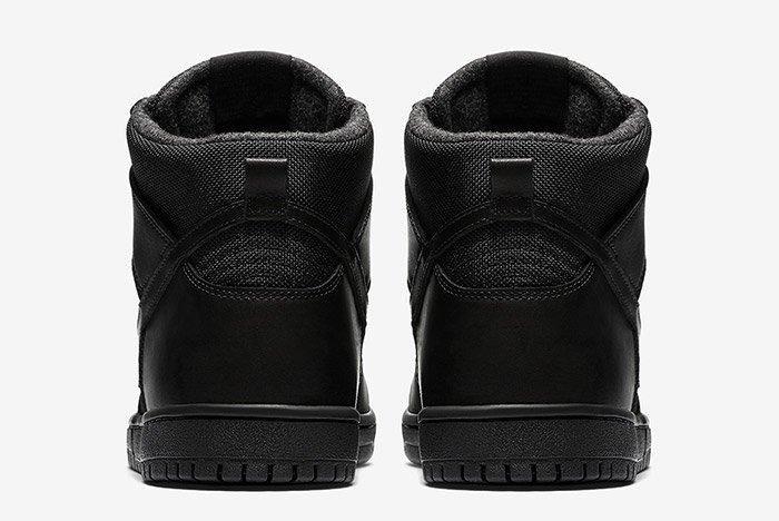 Nike Sb Dunk High Winter Triple Black 2