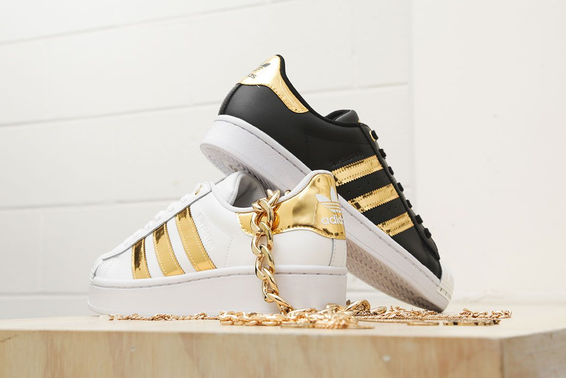 Adidas Metallic Gold Pack Superstar 50Th Anniversary Jd Sports Exclusive Hero10