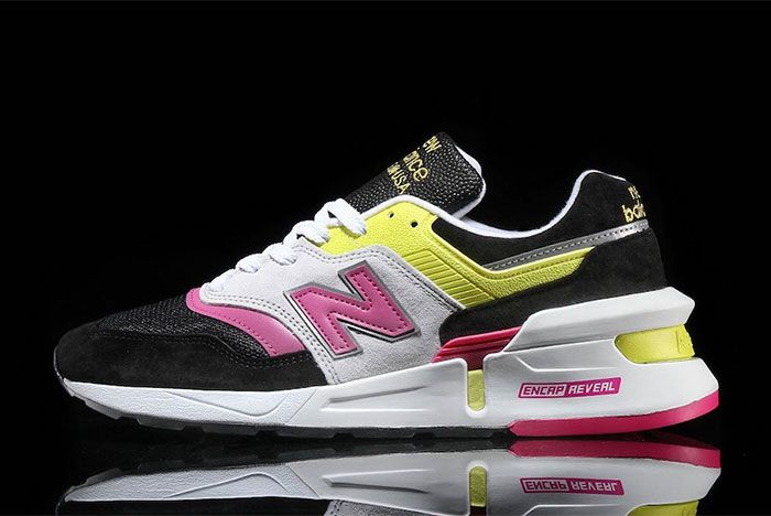 New Balance 997 Black Pink Neon Yellow 2 Lateral Side Shot