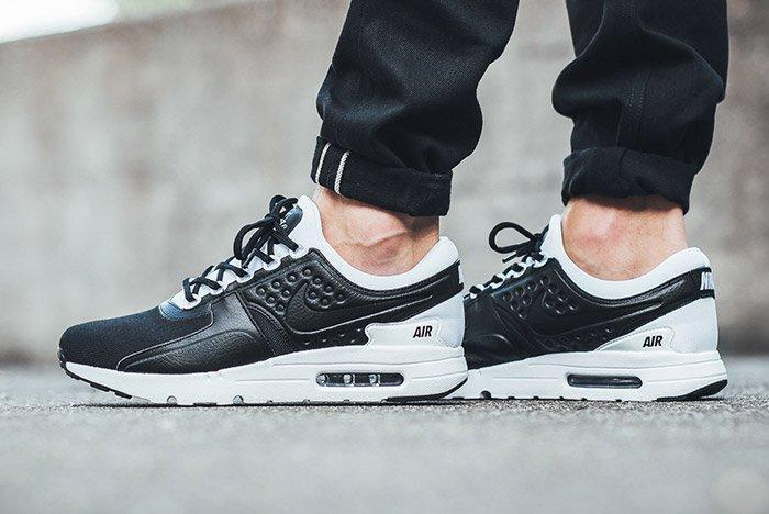 Nike Air Max Zero Premium Leather Black White 2