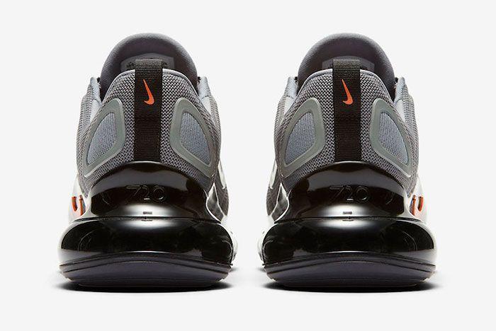 Nike Air Max 720 Cool Grey Bright Crimson Ck0897 001 Heel Shot