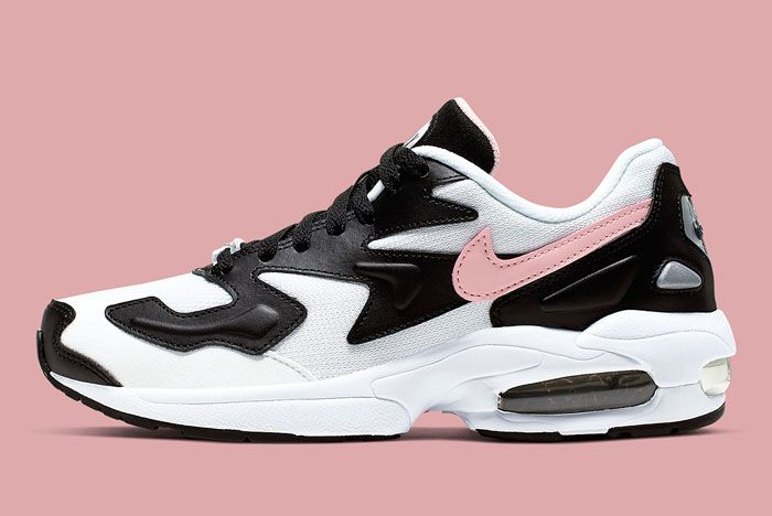 Nike Air Max 2 White Black Pink Lateral Side