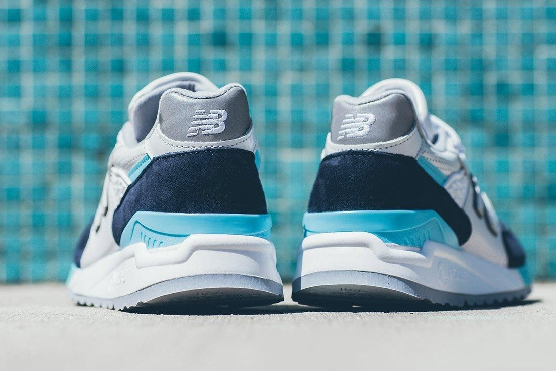 New Balance 998 White Navy Blue 5