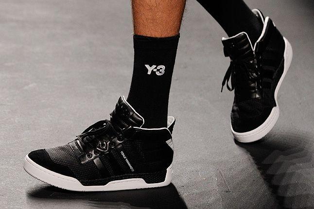 Y3 Socks Black High Top Sneaker 1