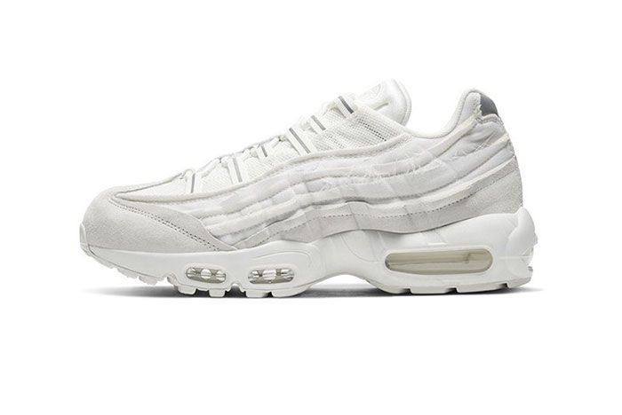 Comme Des Garcons Nike Air Max 95 White Lateral Side Shot
