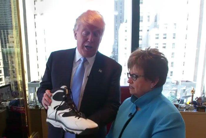 Trump Reebok Shaq Sneakers Header