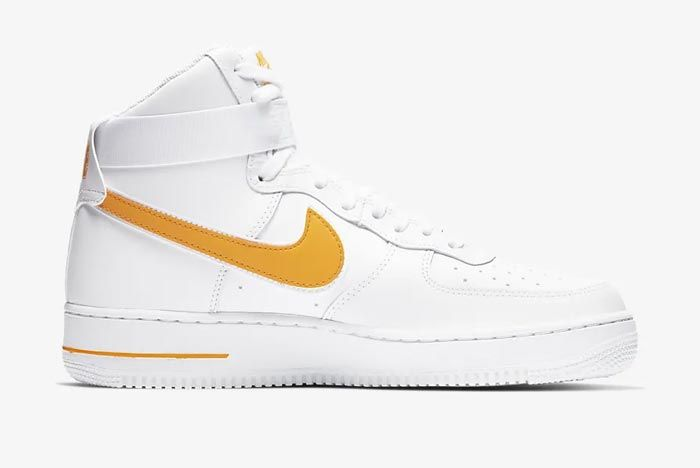 Nike Air Force 1 High White University Gold Medial