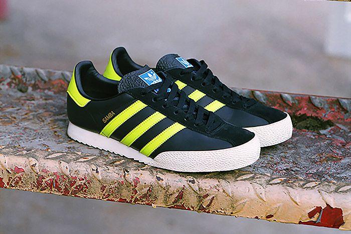 Adidas Spezial Samba Black Neon Green 3