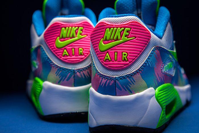 Nike Air Max 90 Print Photo Blueelectric Green Hyper Pink 1