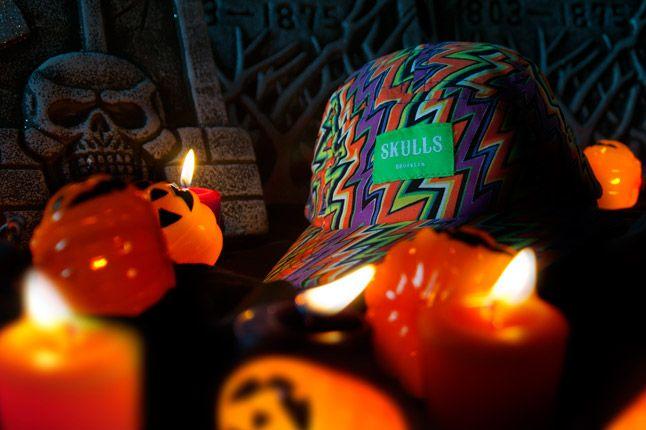 Halloween Skulls Handmade Cap 1