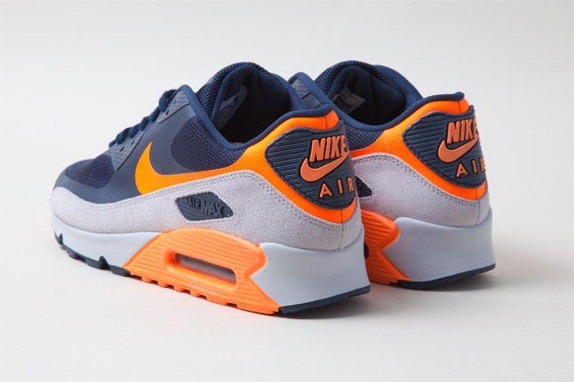 Nike Air Max 90 Hyperfuse Orange Blue Heel 1