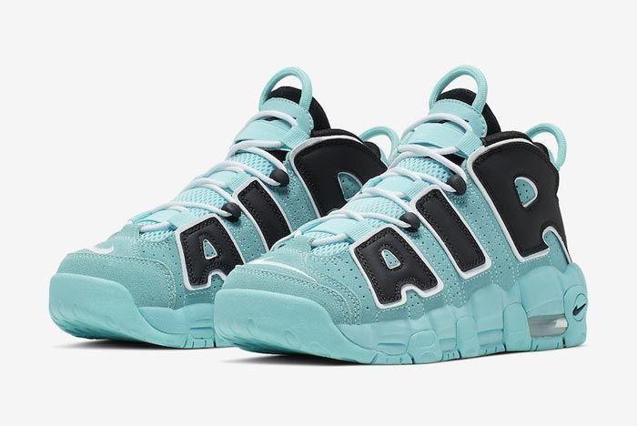 Nike Air More Uptempo Gs Light Aqua Pair