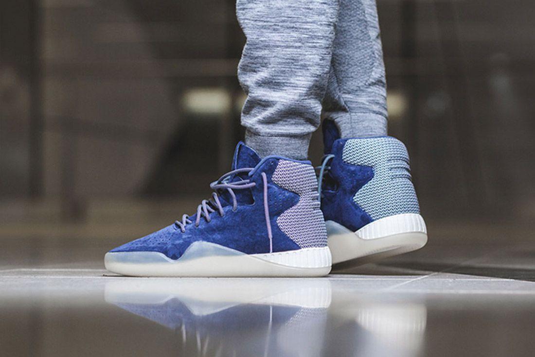 Adidas Tubular Instinct Dark Blue Off White 2