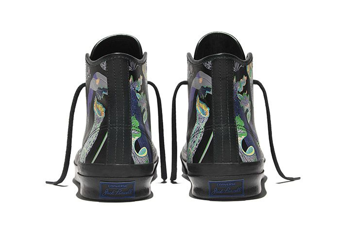 Converse Jack Purcell Signature High Carnivorous Print Black 1