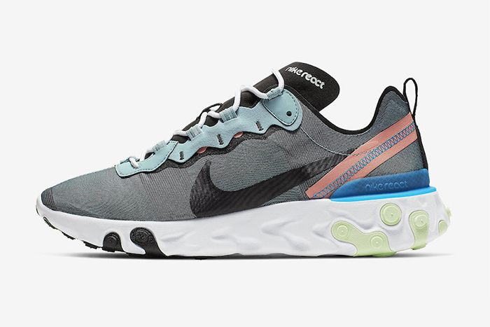 Nike React Element 55 Ocean Cube Bq6166 300 Release Date Lateral