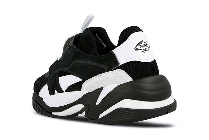 Puma Thunder Disc Black Heel