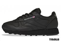 Reebok Classic Leather Triple Black Thumb Php