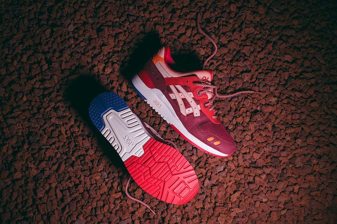 ronnie fieg asics gel lyte iii volcano 2.0 lateral sole top shot