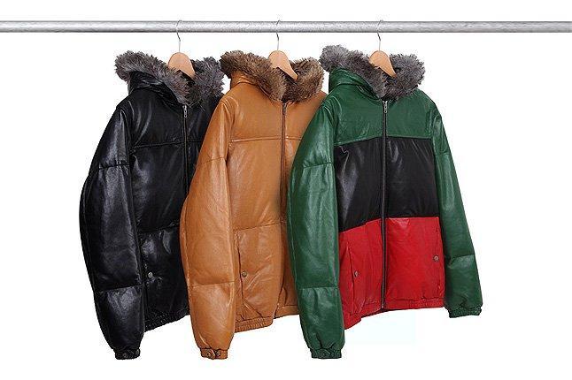 Supreme Leather Jacket Hood Rack Three 1