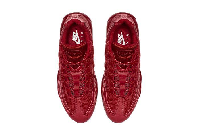 Nike Air Max 95 Triple Red Bq9969 600 Release Date Top Down