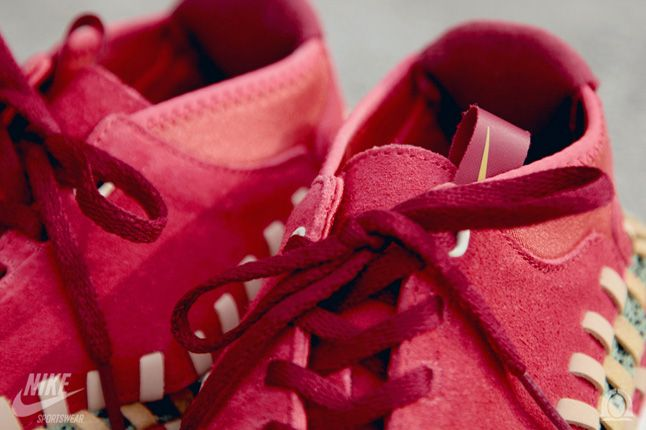 Nike Footscape Woven Chukka Knit Red Reef Lace Details 1