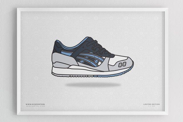 Sneaker Prints Asics Gel Lyte 3 Captains Blue