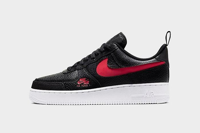 Nike Air Force 1 Lv8 Utility Black Red Lateral