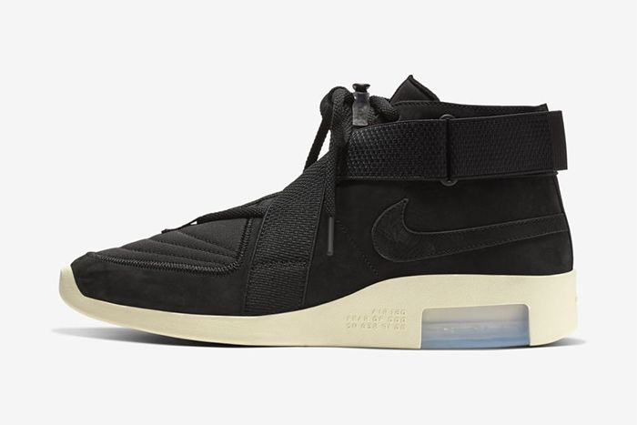 Nike Air Fear Of God Raid Black Fossil At8087 002 Release Date Lateral