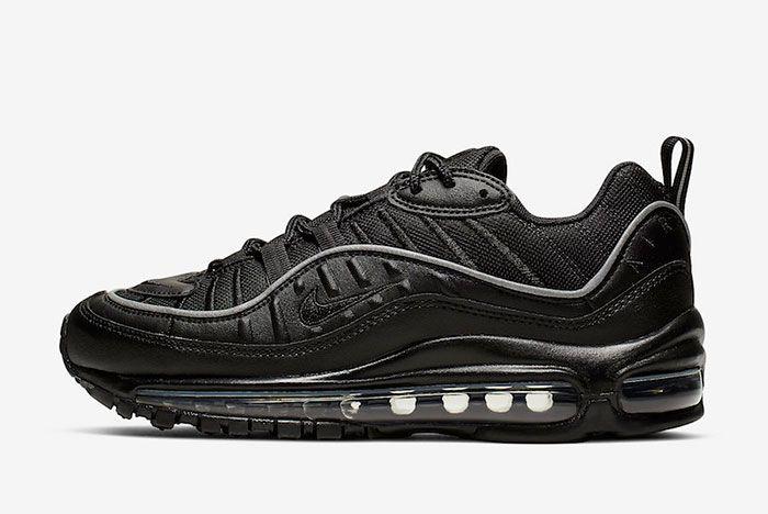 Nike Air Max 98 Black Off Noir Ah6799 004 Lateral