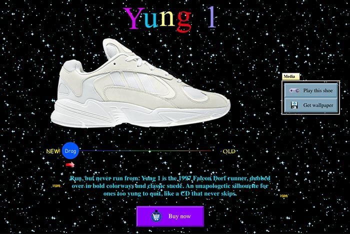 Adidas Yung Website