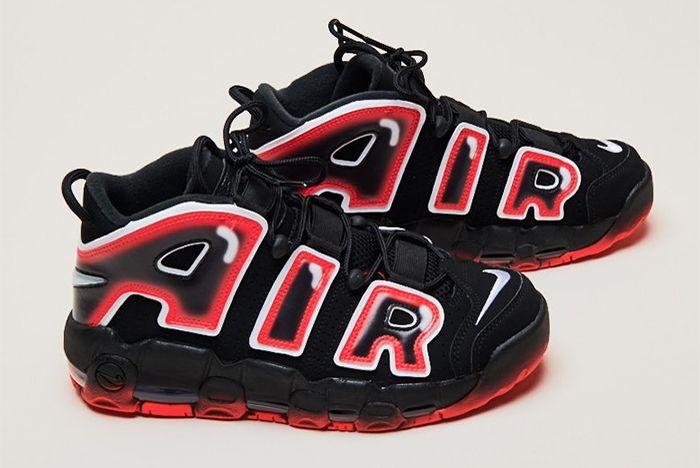 Nike Air More Uptempo Laser Crimson Pair
