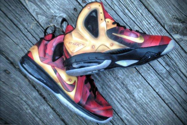 Nike Lebron 9 Elite Tony Starks Mache Pair 1