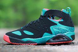 Nike Air Tech Challenge Huarache Green Crimson Thumb
