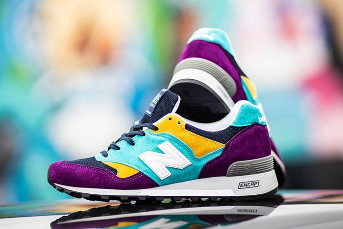 Oneness New Balance 577 Made In England Purple Blue Yellow Black Lateral